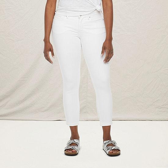 a.n.a - Petite Womens Skinny Ankle Jean