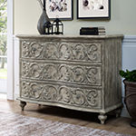 Traditional Style Pecan Finish 3-Drawer Accent Storage Chest