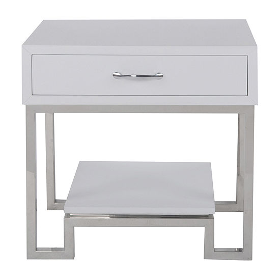 Modern High Gloss Chairside Accent Chest