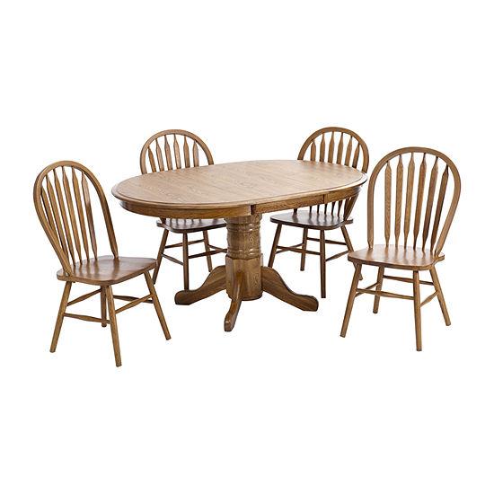 Oakmont 5-Piece Dining Set with Drop Leaf Table