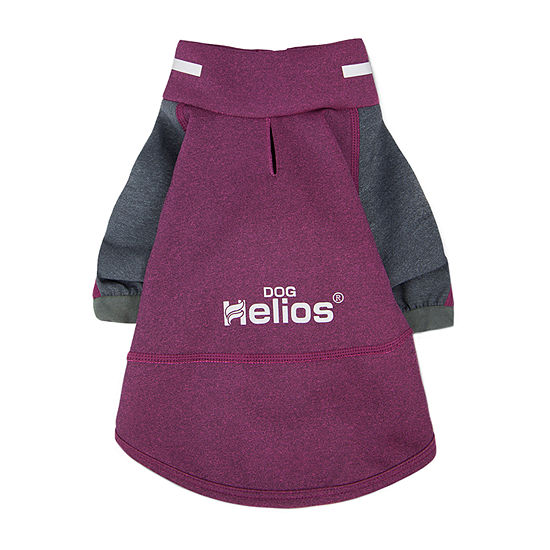 Dog Helios ® 'Eboneflow' Mediumweight 4-Way Stretch Flexible and Breathable Performance Dog Yoga T-Shirt