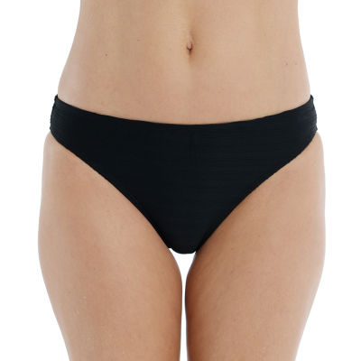 Mynah Textured Womens Textured Hipster Bikini Swimsuit Bottom