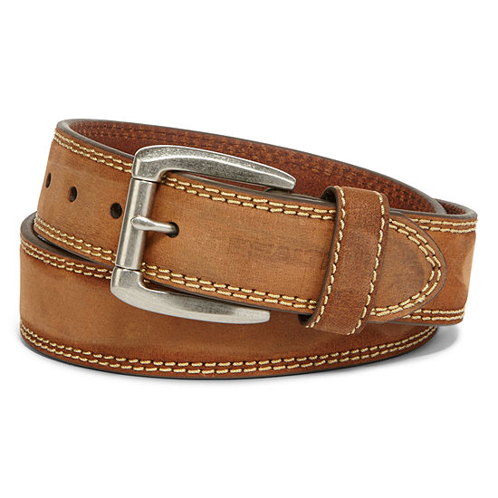 Realtree® 38MM Leather Belt with Contrast Stitch