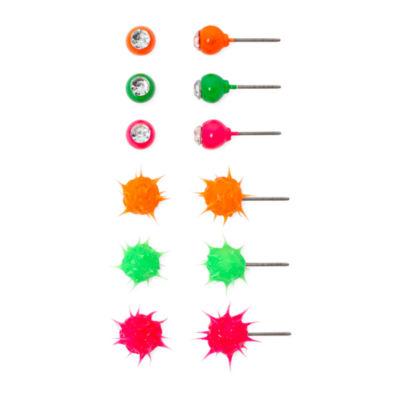 Carole 6-pr. Jelly Spike Earring Set
