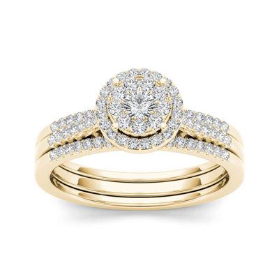 1/2 CT. T.W. Diamond 10K Yellow Gold Bridal Set
