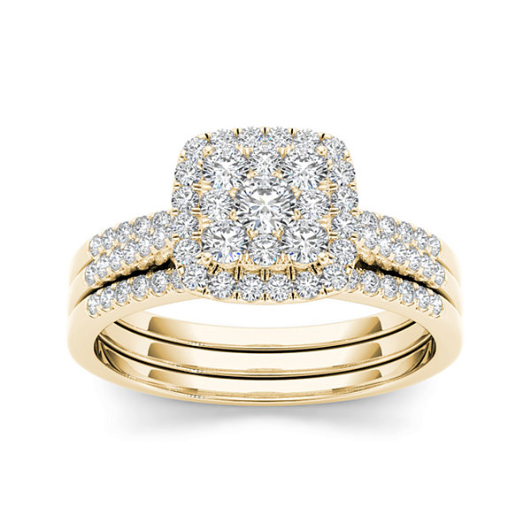 1/2 CT. T.W. Diamond 10K Yellow Gold Bridal Set