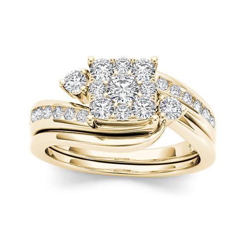 3/4 CT. T.W. Diamond 10K Yellow Gold Bridal Ring Set