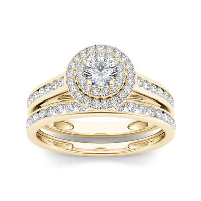 3/4 CT. T.W. Diamond 10K Yellow Gold Bridal Ring Set