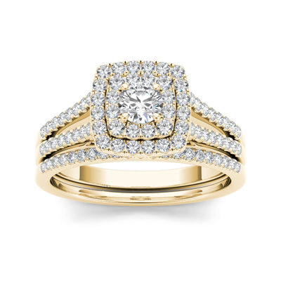 3/4 CT. T.W. Diamond 10K Yellow Gold Bridal Set