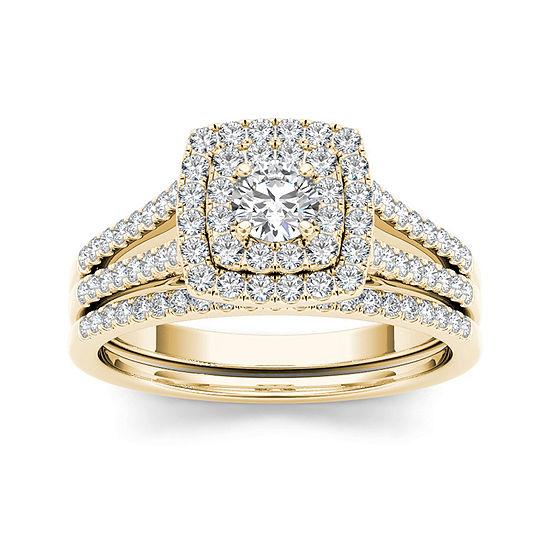 3/4 CT. T.W. Diamond 10K Yellow Gold Bridal Set