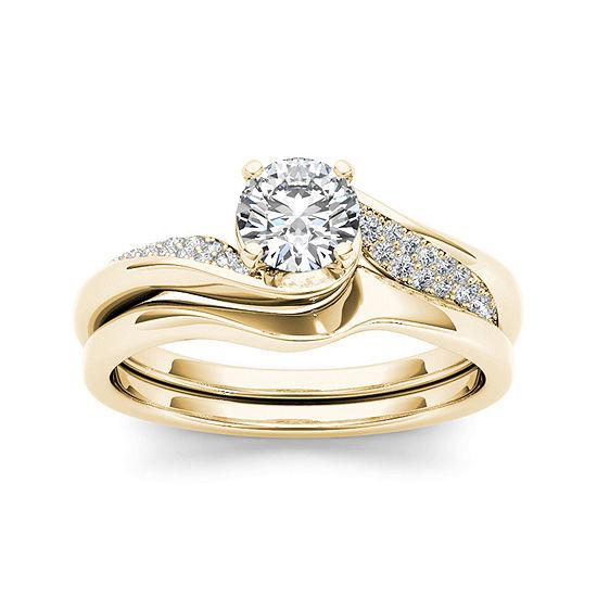 5/8 CT. T.W. Diamond 14K Yellow Gold Bridal Ring Set