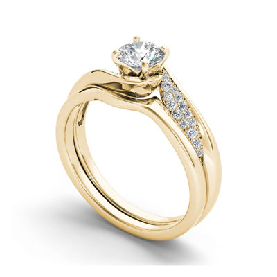 5/8 CT. T.W. Diamond 14K Yellow Gold Bridal Ring Set