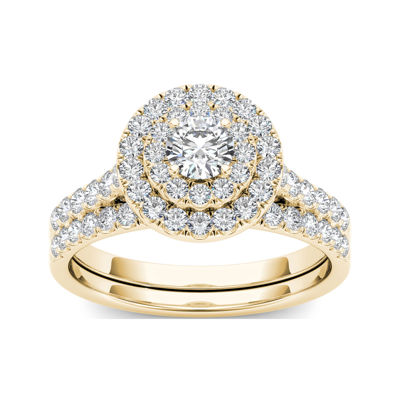 1 CT. T.W. Diamond 10K Yellow Gold Bridal Set Ring