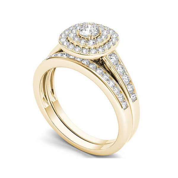 7/8 CT. T.W. Diamond 10K Yellow Gold Bridal Ring Set