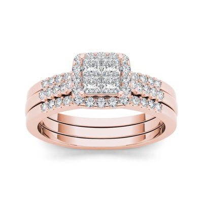 3/4 CT. T.W. Diamond 14K Rose Gold Bridal Set