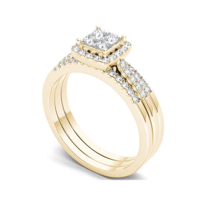 3/4 CT. T.W. Diamond 14K Yellow Gold Bridal Set