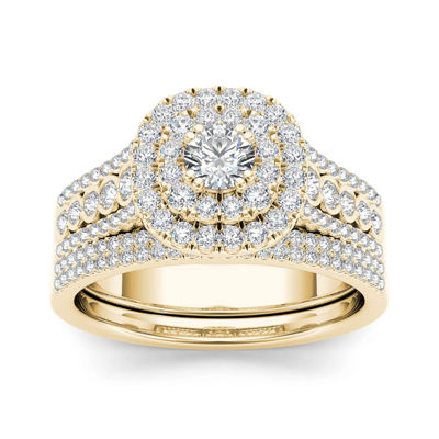 1 CT. T.W. Diamond 10K Yellow Gold Bridal Ring Set