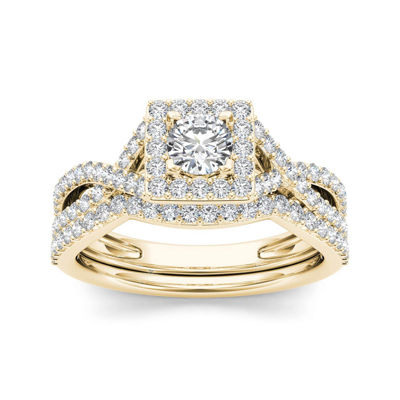 1 CT. T.W. Diamond 14K Yellow Gold Bridal Set