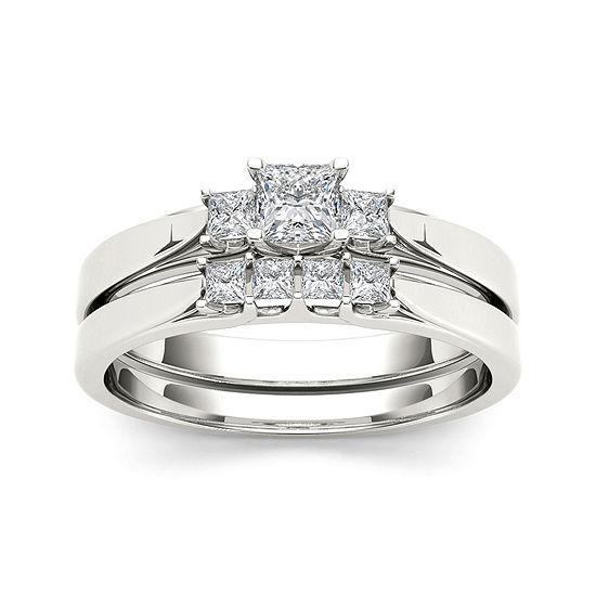 1/2 CT. T.W. Diamond 14K White Gold Bridal Set