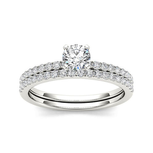3/4 CT. T.W. Diamond 14K White Gold Bridal Ring Set