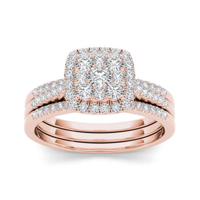 1/2 CT. T.W. Diamond 10K Rose Gold Bridal Set