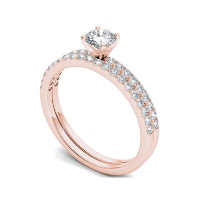 3/4 CT. T.W. Diamond 14K Rose Gold Bridal Ring Set