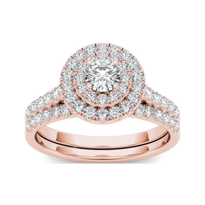 1 CT. T.W. Diamond 10K Rose Gold Bridal Set Ring