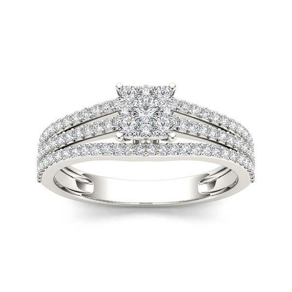 1/2 CT.T.W. Diamond 10K White Gold Engagement Ring