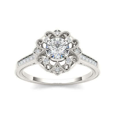 1/2 CT. T.W. Diamond 14K White Gold Engagement Ring