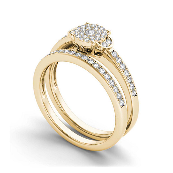 1/2 CT. T.W. Diamond 10K Yellow Gold Bridal Ring Set
