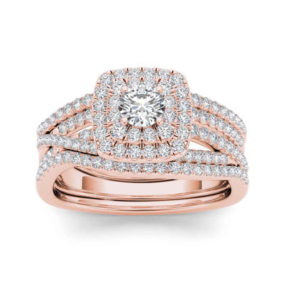 1 CT. T.W. 10K Rose Gold Bridal Set
