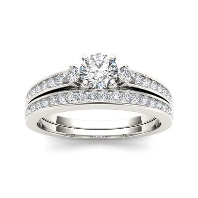 1 CT. T.W. Diamond 14K White Gold Bridal Set