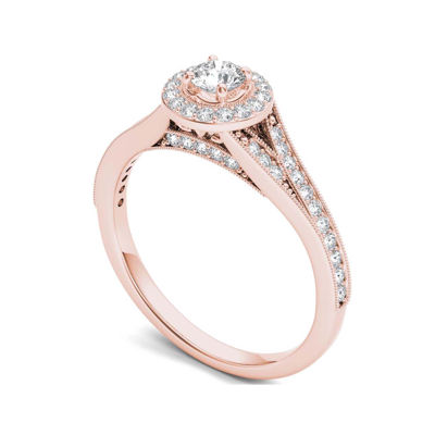 5/8 CT. T.W. Diamond 14K Rose Gold Engagement Ring