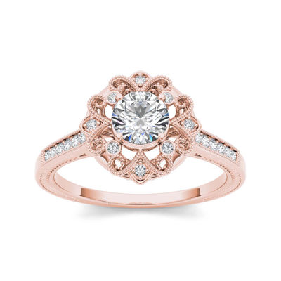 12 CT TW Diamond 14K Rose Gold Engagement Ring JCPenney