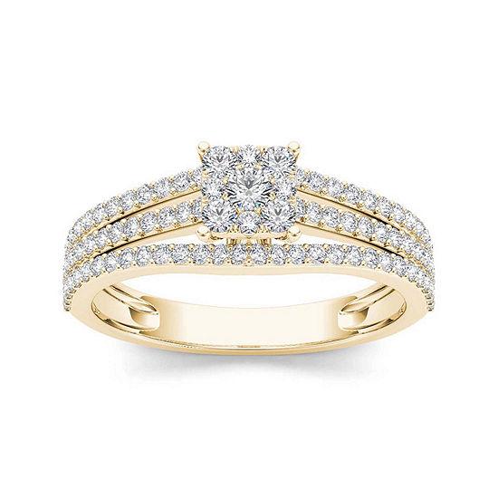 5/8 CT. T.W. Diamond 10K Yellow Gold Engagement Ring