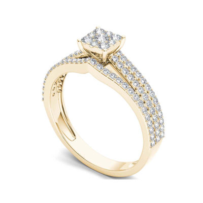 5/8 CT. T.W. Diamond 10K Yellow Gold Engagement Ring