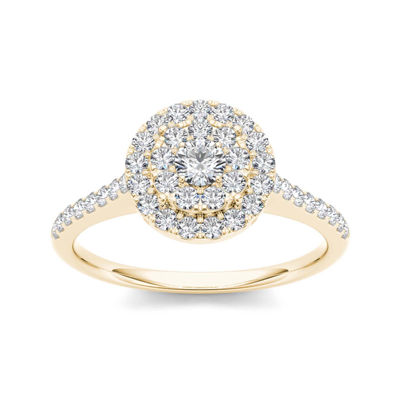 3/4 CT. T.W. Diamond 10K Yellow Gold Engagement Ring