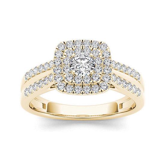 3 4 Ct Tw Diamond 10k Yellow Gold Engagement Ring