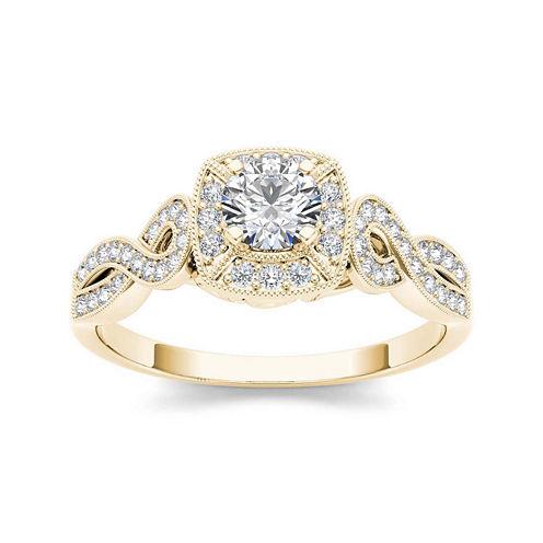1/2 CT. T.W. Diamond 14K Yellow Gold Engagement Ring