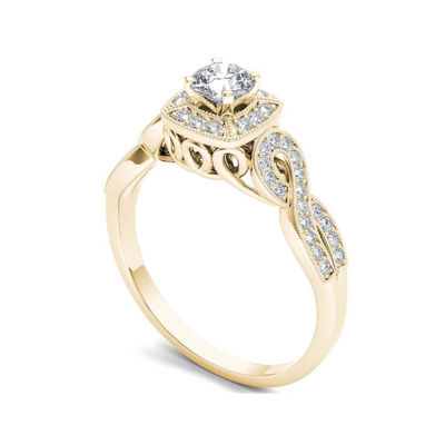 1/2 CT. T.W. Diamond 14K Yellow Gold Engagement Ring