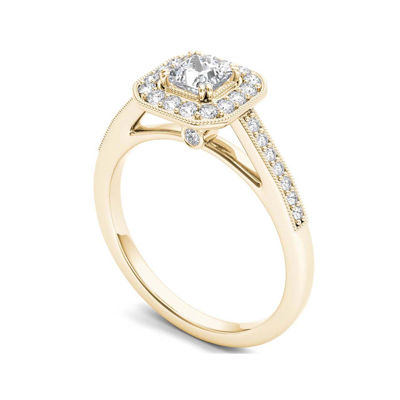 Diamond 14K Yellow Gold Engagement Ring 2