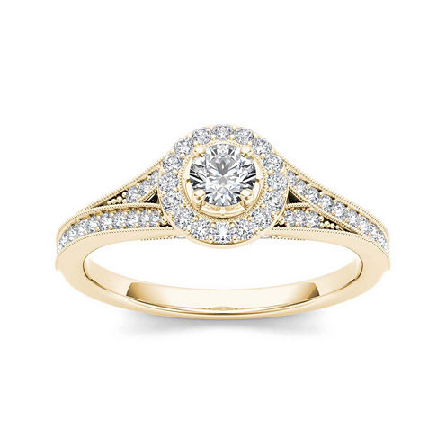 5/8 CT. T.W. Diamond 14K Yellow Gold Engagement Ring