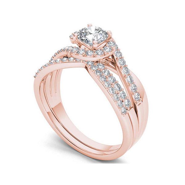 1 CT. T.W. Diamond 14K Rose Gold Bridal Set