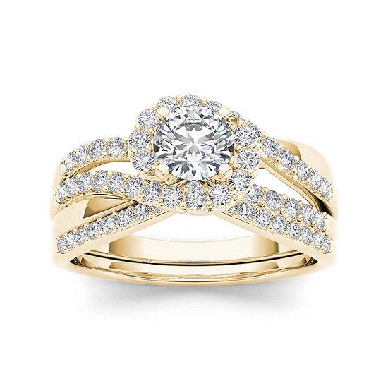 1 CT. T.W. Diamond 14K Yellow Gold Bridal Set