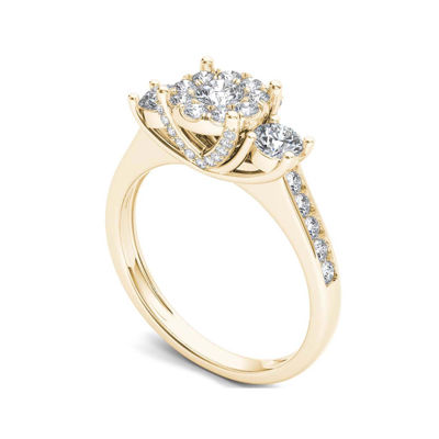 1 CT. T.W. Diamond 10K Yellow Gold 3-Stone Ring