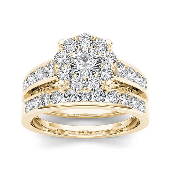 1 1/2 CT. T.W. Diamond 10K Yellow Gold Bridal Set