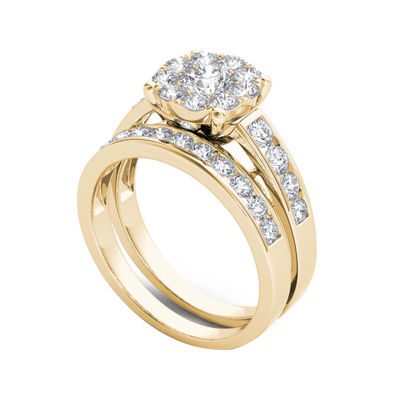 1 1/2 CT. T.W. Diamond 10K Yellow Gold Bridal Set