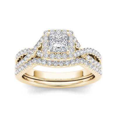 1 CT. T.W. Diamond 14K Yellow Gold Bridal Ring Set