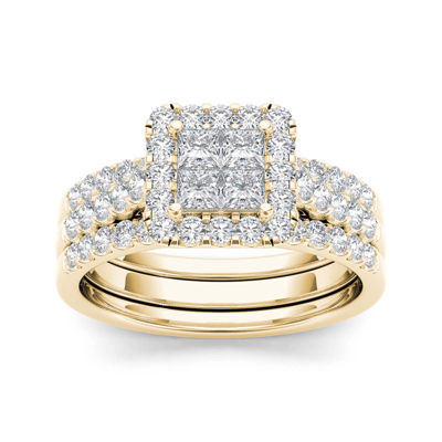1 1/4 CT. T.W. Diamond 14K Yellow Gold Bridal Set