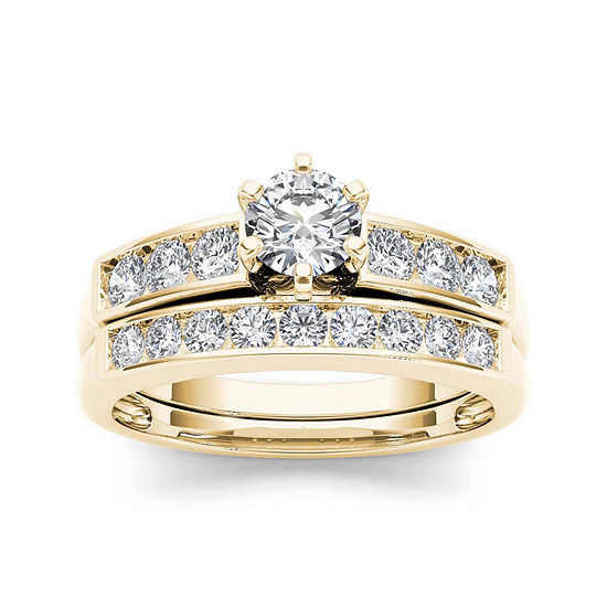 1 CT. T.W. Diamond 14K Yellow Gold Bridal Ring Set